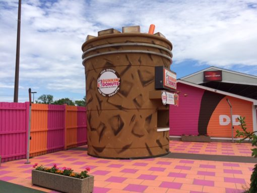 Dunkin': <br>Giant Coffee Cup Customization & Branded Footprint